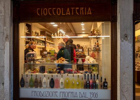 Chocolate shop in venice
