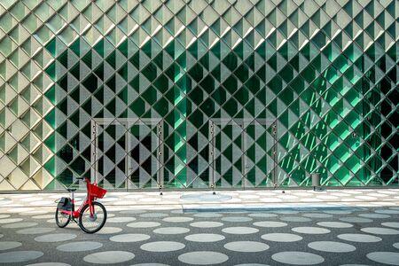 Modern house facade made of glass