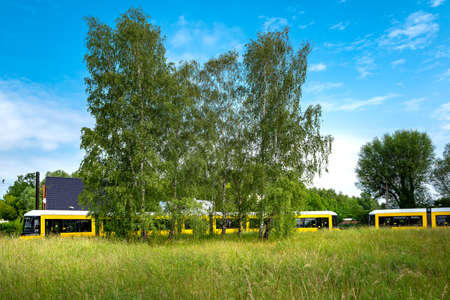 The final stop of the tram is in a forest near Berlin