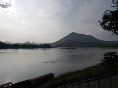 sightsee: Mekong river , sightseeing from Kaeng Khut Khu , Loei , Thailand.