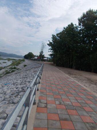 Along The Way Mekong riverside. Stock Photo