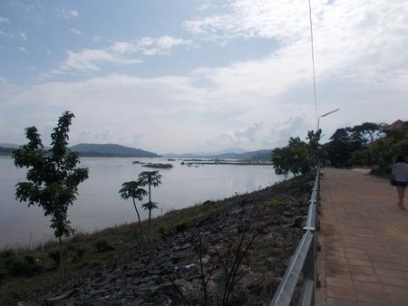 mekong: Along The Way Mekong riverside. Stock Photo