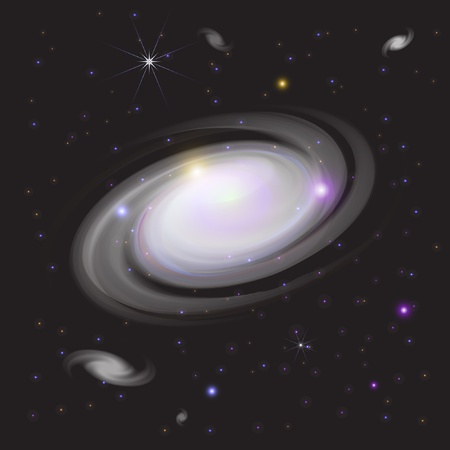 Galaxy In Space 向量圖像