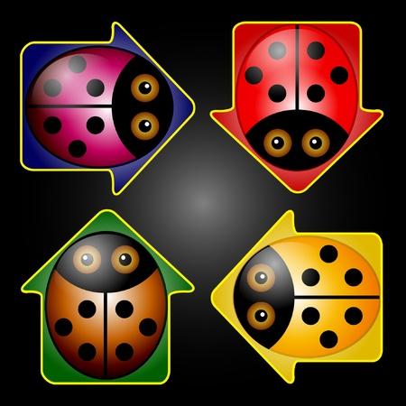 LadyBug Arrow Buttons