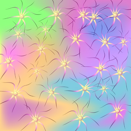 absract: Abstract Pearl and Flower Background Illustration