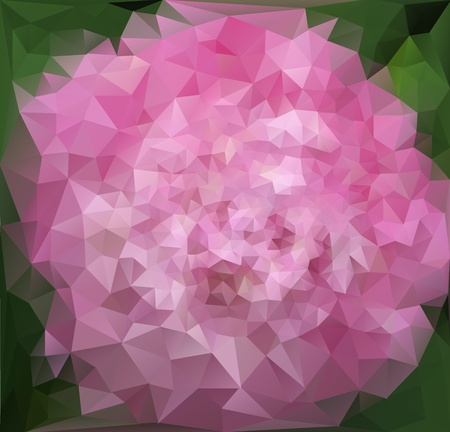 Flower Triangle Background