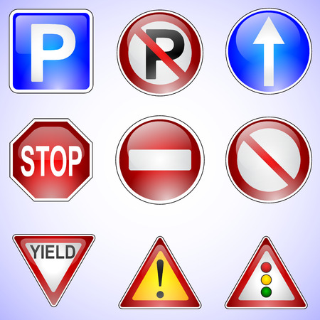 Set of Vector Road Signs