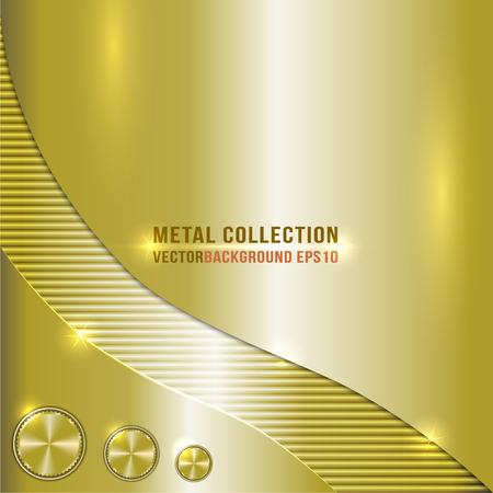 Vector golden or brass metallic background 일러스트