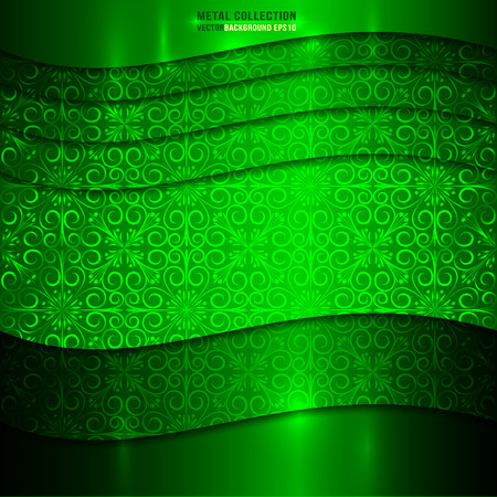 Vector Green Metal Textured Background Illustration