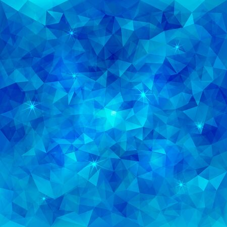 Abstract Vector Triangle Pattern Water Background