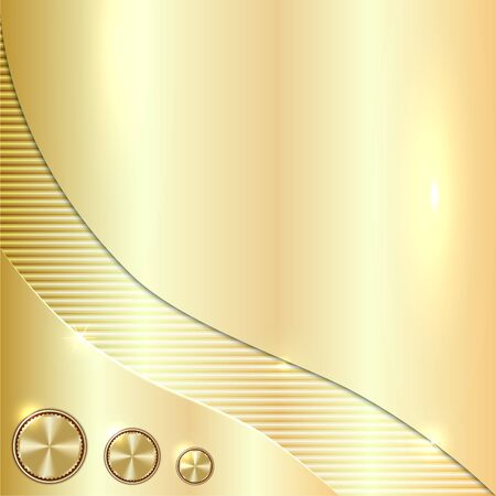 黄金のベクトルまたは黄銅メタリックな背景