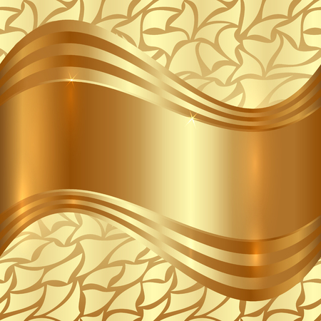 fashion design: Abstract Gold Background With Curves