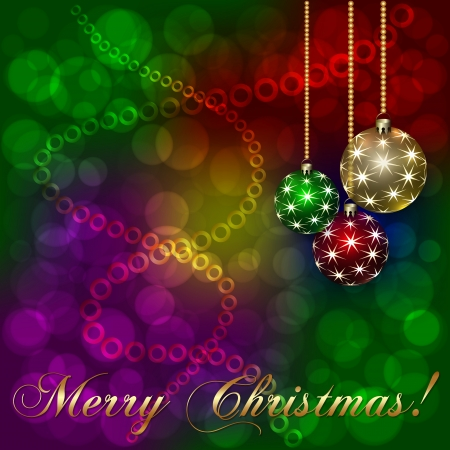 holiday: Vector Christmas Holiday Abstract Multicolor Background
