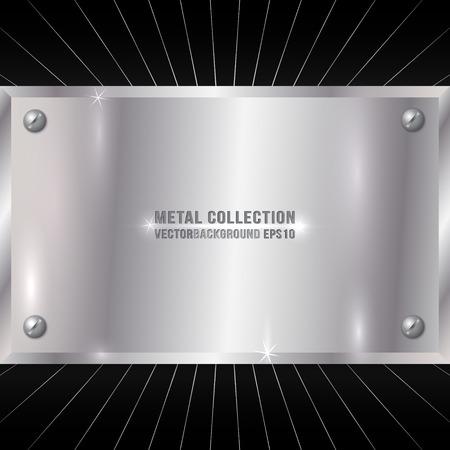 prata: Vector Metallic Award placa de prata com parafusos