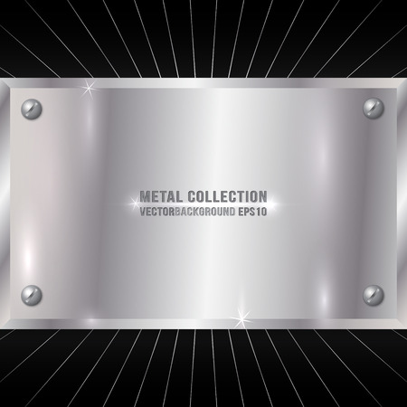 Vector Metallic Award Silver Plate with Screws Ilustrace