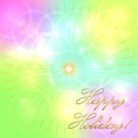 holiday: Vector abstract multicolor pastel holiday background Illustration