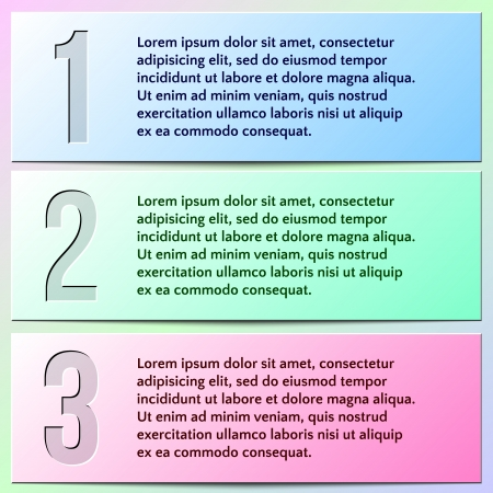 enumerated: Vector infographic enumerated presentation banners with text