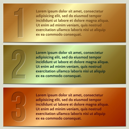Vector infographic enumerated presentation banners with text