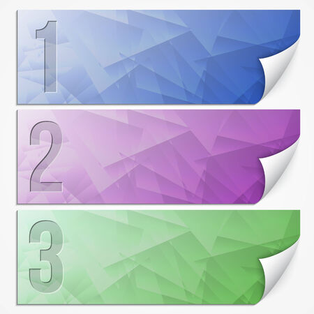 paper banner: Vector abstract multicolor presentation  paper banner set