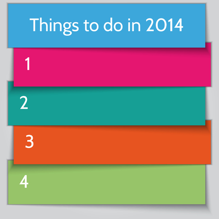 todo: Vector New Year Resolution To Do List template Illustration