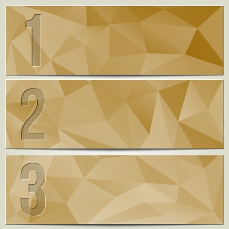 Vector infographic enumerated presentation light beige textured banners Stock Illustratie