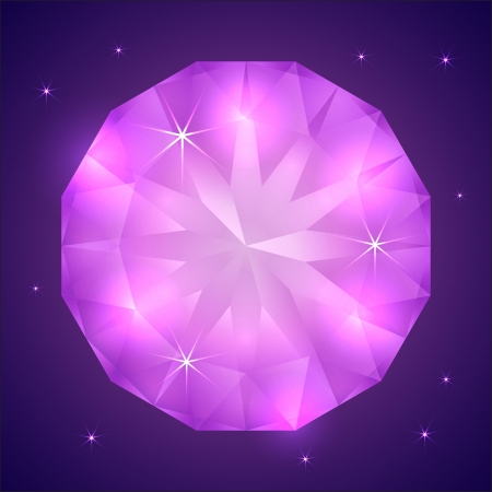 gemstone: Vector illustration of precious gemstone on dark background Illustration