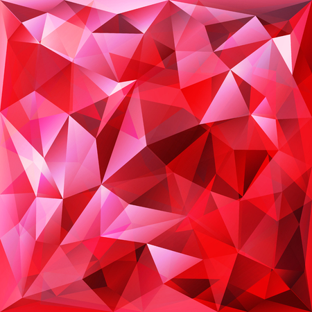 Vector abstract red geometric background with triangles and sunlight particles