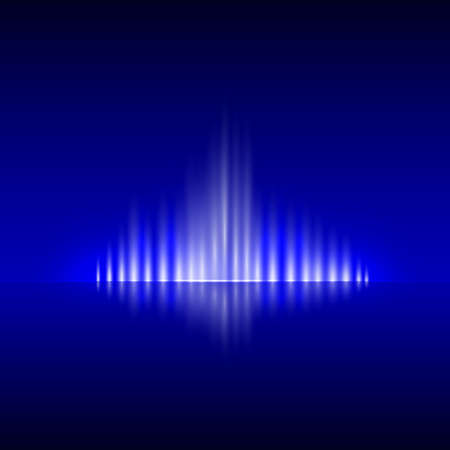 blue flame: Vector abstract dark blue background with spurts of  flame Illustration