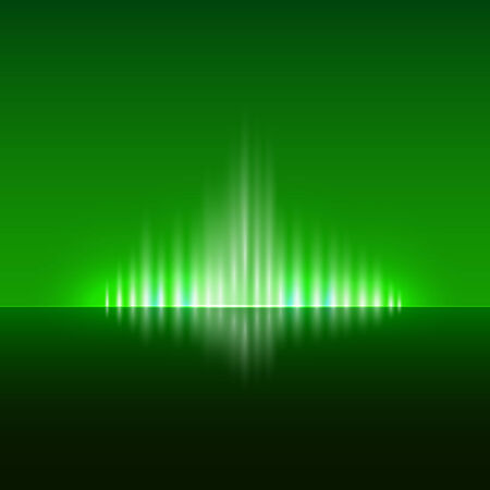 flame: Vector abstract dark green background with spurts of  flame