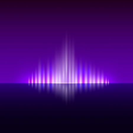 flame: Vector abstract dark violet background with spurts of  flame Illustration