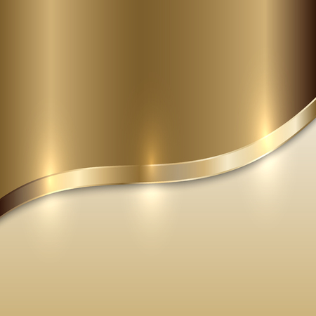 golden texture: Vector golden texture background with curve line Illustration