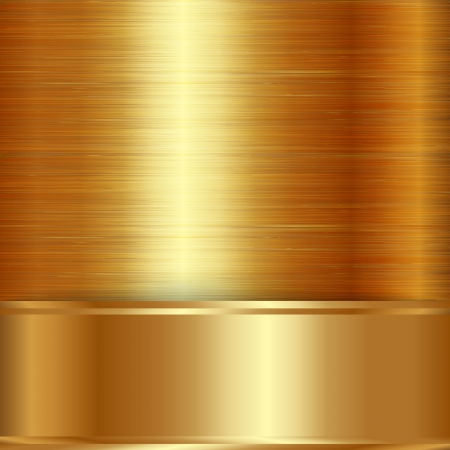 gold  brushed metallic plaque texture Vector