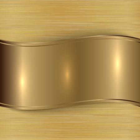 gold  brushed metallic plaque texture