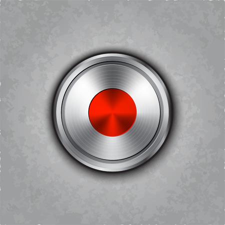 textured: round metal record knob on textured