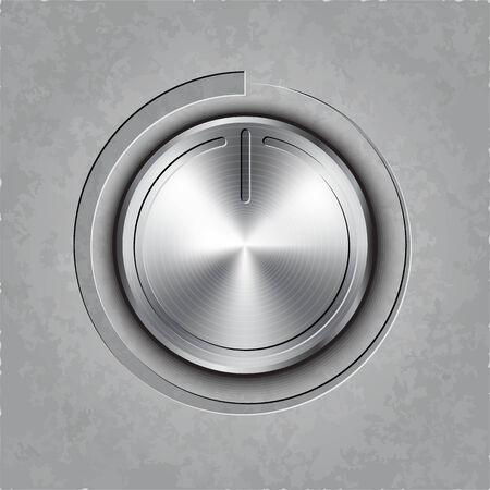 textured: round metal volume button on textured  Illustration