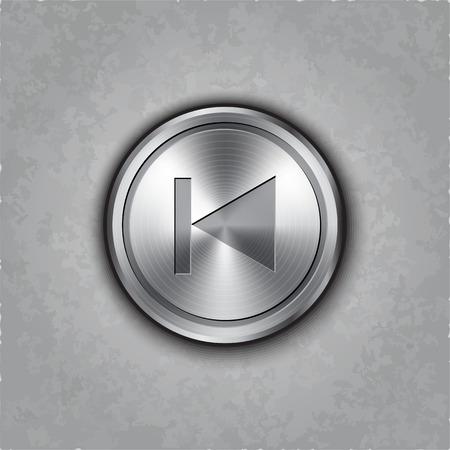 textured: round backward button on textured