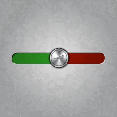 textured: round metal balance knob on textured  Illustration