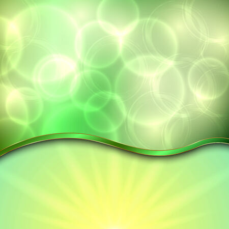 curve:  beautiful spring green with curve, sun, bokeh Illustration