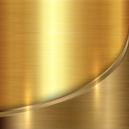 brushed: Vector abstract  precious brushed metals background with curve