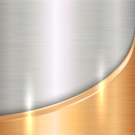 Vector abstract  precious metals background with curve