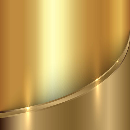 curve: Vector abstract  precious gold metals background with curve