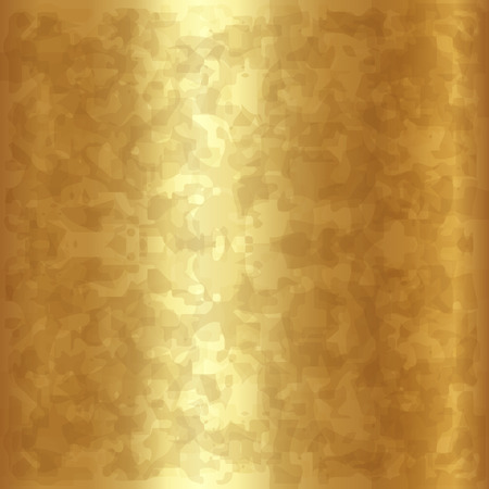 golden texture: Vector abstract gold or brass metallic background texture