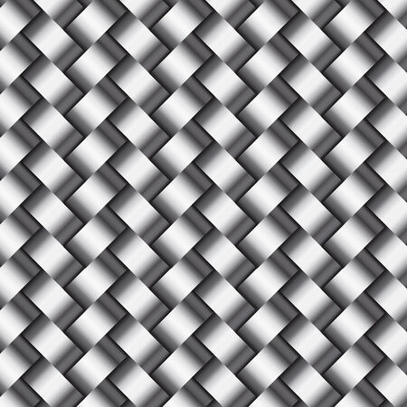 Vector abstract metallic  silver or steel wickerwork pattern Illustration