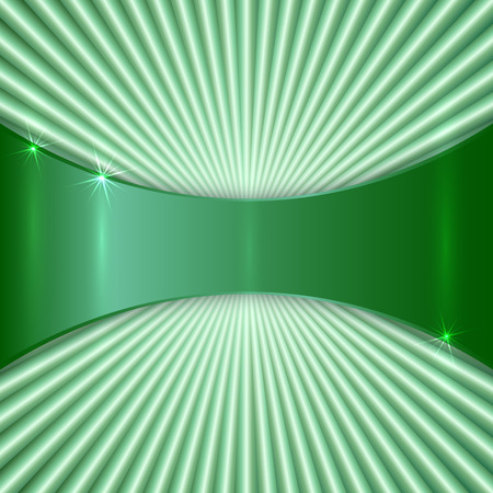 green lines: abstract metallic green color plat with radial lines Illustration