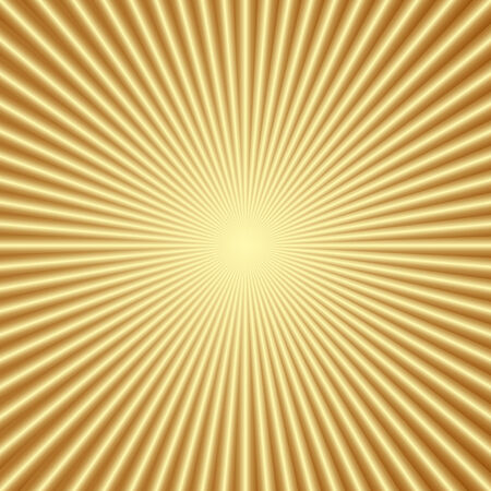 Vector abstract gold color background with radial lines