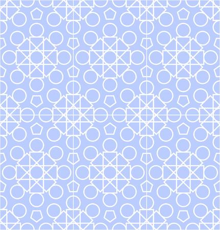 abstract geometric pale blue seamless pattern