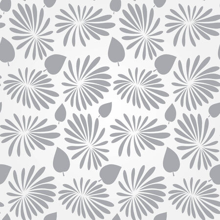 textiles: Vector abstract floral seamless pattern with flowers and leaves