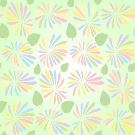 textiles: abstract floral seamless pattern with flowers and leaves