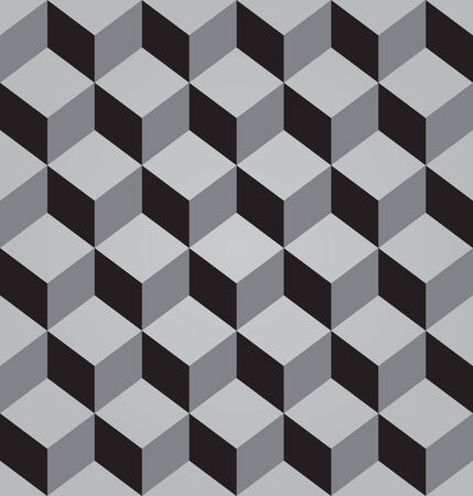 abstract grey seamless pattern made from stacked cubes