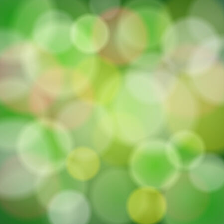Vector abstract green background with bokeh light effects